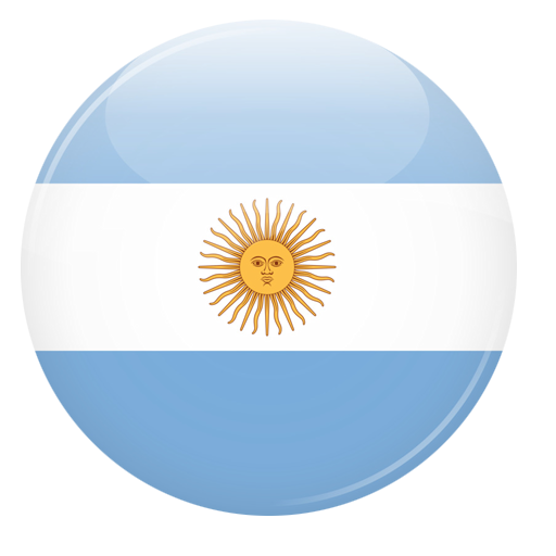 Logo bandera Argentina