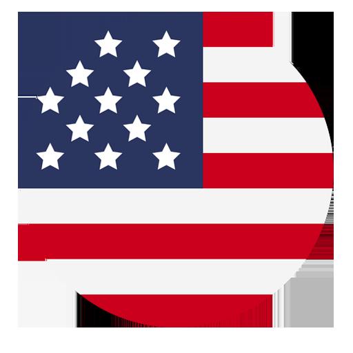 Logo bandera Estados Unidos